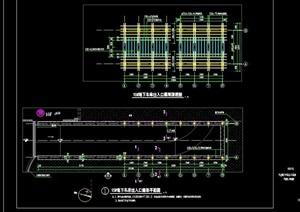现代景观节点车库廊架设计cad施工图