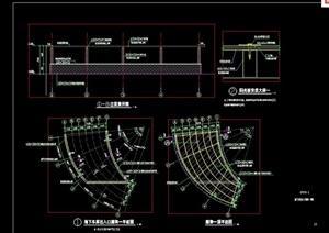 景观节点车库出入廊架设计cad施工图