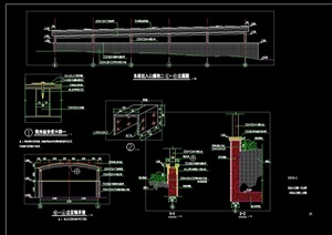 详细的景观节点廊架设计cad施工图
