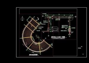 详细的车库景观节点廊架设计cad施工图