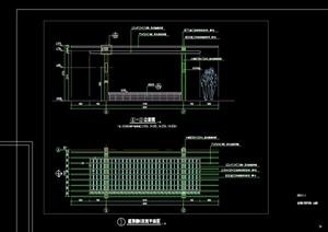 景观节点廊架设计cad平立施工图