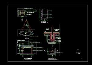 景观节点廊架素材cad施工图