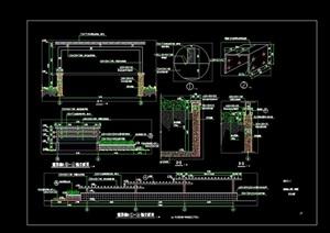 景观节点廊架设计cad施工图