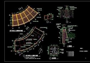 景观节点廊架设计cad平面图