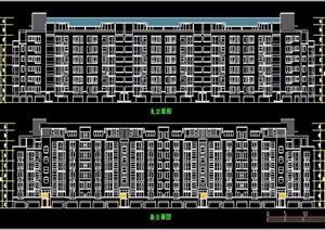 某小区8层住宅楼建筑方案图