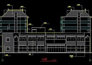 现代五层商住楼建筑设计图纸