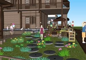 农家乐山庄景观设计SU(草图大师)模型
