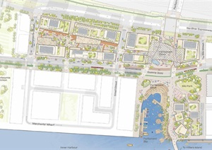 加拿大多伦多滨水空间改造城市设计手绘风格