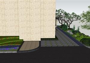 别墅庭院花园景观设计3SU(草图大师)方案