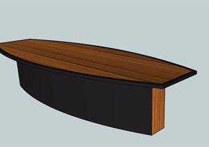 木制长会议桌素材SU(草图大师)模型