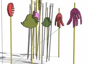 童趣风景观小品素材SU(草图大师)模型