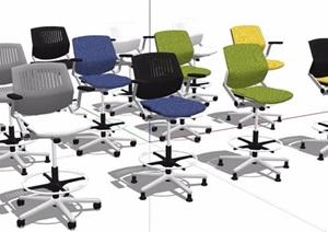 多款转椅办公椅素材SU(草图大师)模型