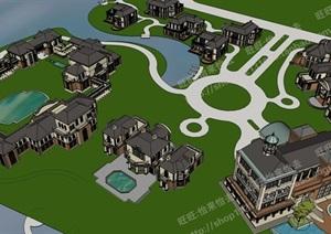 大型旅游区度假村规划项目模型模型丰富详细,材质贴图清晰,具有很高的学习参考价值,值得下载