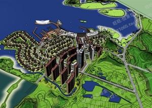 大型游船码头旅游区规划模型模型模型丰富详细,材质贴图清晰,具有很高的学习参考价值,值得下载