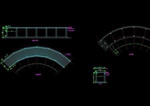 详细现代弧形廊cad方案