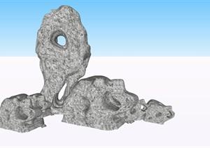 太湖石假山置石SU(草图大师)素材模型