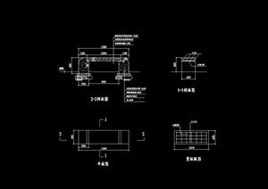 园林景观节点园凳设计cad施工图