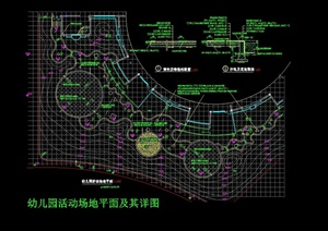 园林景观详细的铺装设计cad施工图