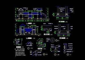 详细的游乐设施素材cad施工图