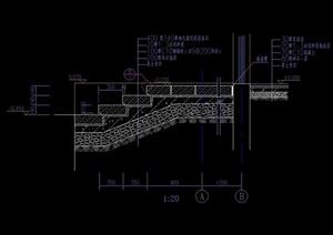 详细的完整台阶素材cad详图