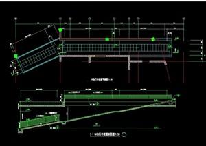 详细的完整自行车坡道cad施工图