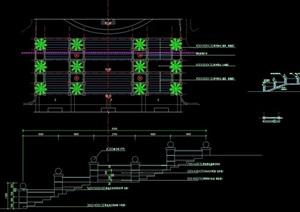 详细的入口台阶素材cad详图