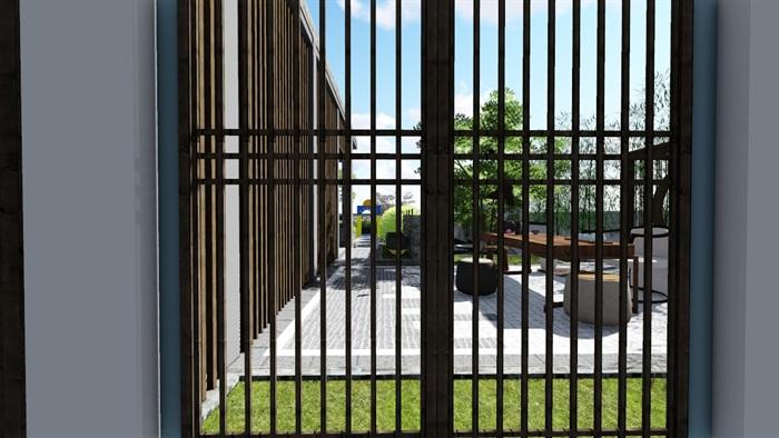 新中式别墅庭院景观设计6su素材模型(6)