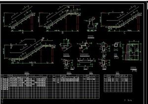 某詳細的建筑樓梯設計cad施工圖