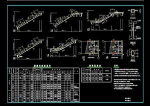 某建筑樓樓梯踏步素材cad結構圖