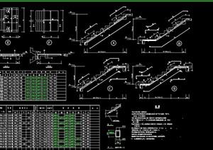 某建筑楼梯表设计cad方案