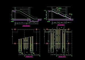 詳細的完整樓梯素材cad大樣圖