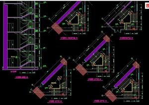 詳細的建筑樓梯詳細設計cad施工圖大樣