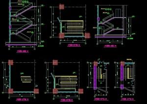 精細完整的建筑樓梯設計cad施工圖