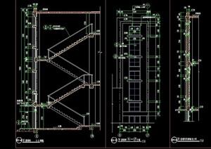 精致詳細的完整建筑樓梯節點設計cad施工大樣天正打開