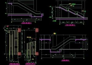 详细的完整楼梯设计cad大样图