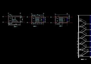 標準樓梯cad平面、剖面圖