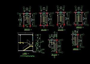 某詳細的建筑樓梯設計cad大樣圖