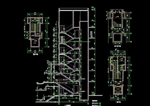 詳細的完整住宅樓梯cad詳圖