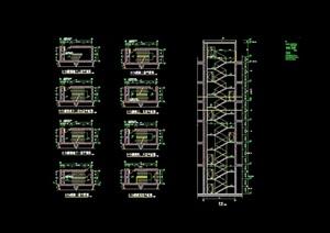 详细的完整建筑楼梯cad详图