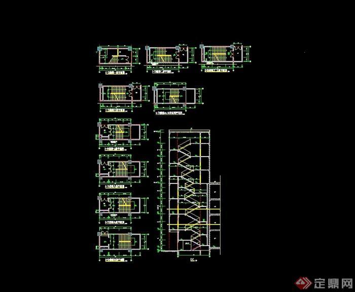 详细的建筑楼梯cad详图