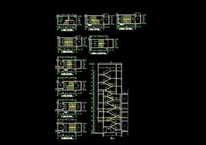 詳細的建筑樓梯cad詳圖