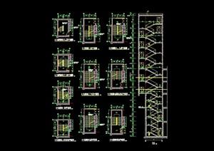 某詳細的完整建筑樓梯cad施工圖