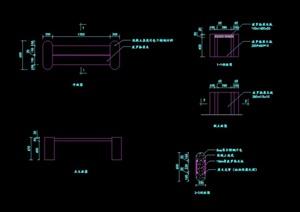 详细的完整园凳设计cad施工图