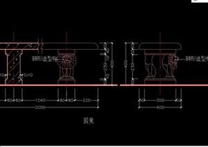 独特详细的园凳设计cad方案