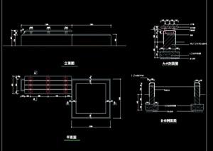 现代园林景观园凳设计cad施工图