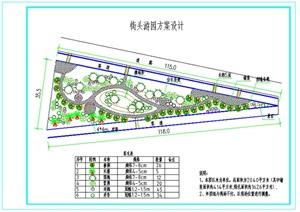 南疆两个游园设计cad方案