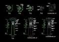 園林景觀音響燈柱設計cad施工圖