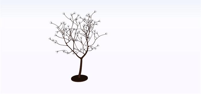 室外景觀樹燈su素材模型(1)