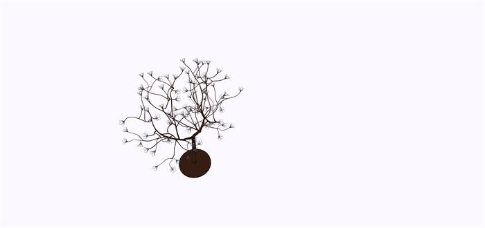 室外景觀樹燈su素材模型(2)