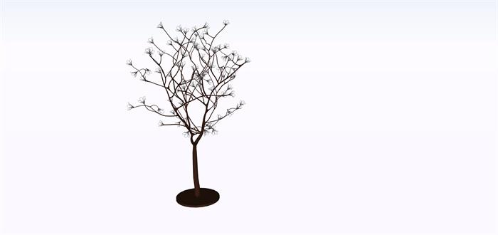 室外景觀樹燈su素材模型(3)